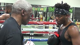 KSI **FULL** padwork session with Floyd Mayweather