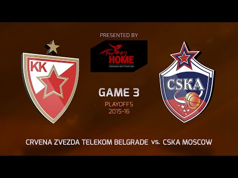 Highlights: Playoffs Game 3, Crvena Zvezda Telekom Belgrade 71-78 CSKA Moscow