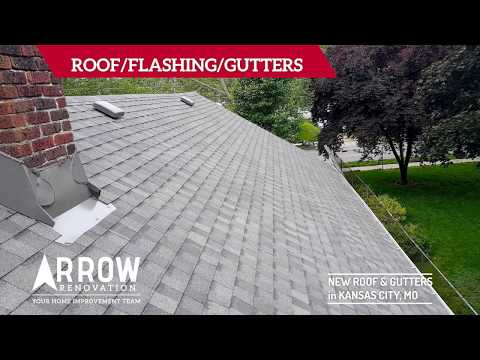 Roof and Gutter Replacement on Home in Kansas City, MO