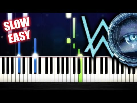 Alan Walker - The Spectre - SLOW EASY PianoTutorial by PlutaX