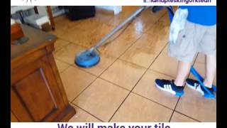 Service Presentation - Large Tile & Grout Professional Cleaning