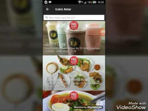 Video Makan Gratis Dengan Go jek