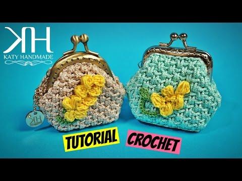 Tutorial Portamonete Clic Clac Mimosa Uncinetto Crochet Katy