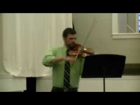 Here's a little sample of a Bach violin solo that I played at one of my student recitals.
