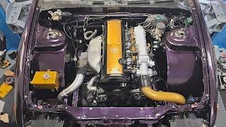 1JZ Challenge - Engine Install & FIRST START!