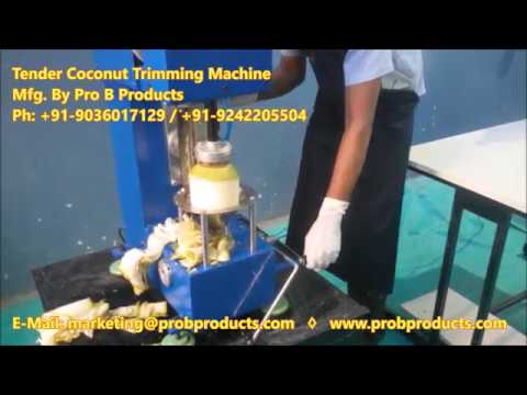 Coconut Deshelling Machine
