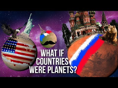 What If Countries Were PLANETS?