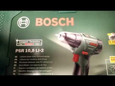 Bosch DIY Akku-Bohrschrauber PSR 10,8 LI-2, Akku, Ladegerät, Schrauberbit, Koffer