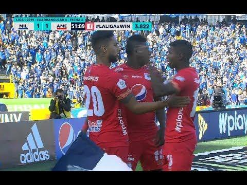 Millonarios vs. America (1-2) | Liga Aguila 2019-1 | Cuadrangulares Fecha 6