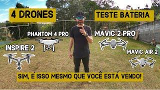 TESTE BATERIA DRONE DJI INSPIRE 2, PHANTOM 4 PRO, MAVIC 2 PRO, MAVIC AIR 2