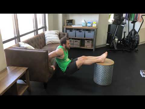 Feet Elevated Sofa Tricep Dips
