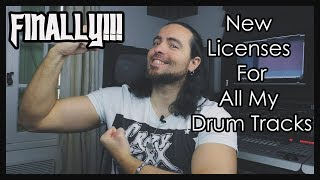 All My Drum Tracks Now Available With 4 License Options