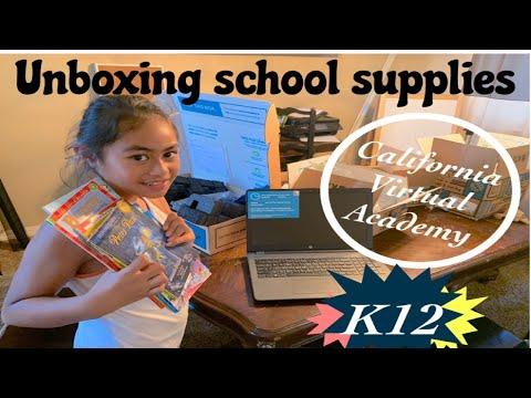 K12 Homeschool Unboxing | 2nd grade | California Virtual Academies