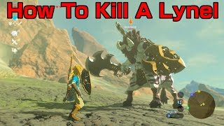 How To Kill A Lynel (Best Method) // Zelda Breath of the Wild