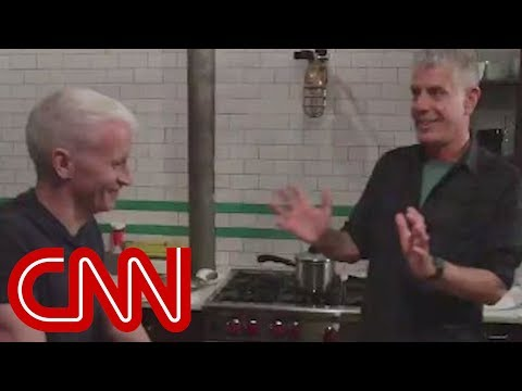Anthony Bourdain cooks Korean food for Anderson Cooper