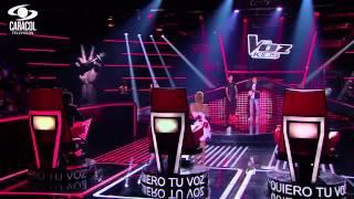 Hernando cantó 'Monalisa' de Alkilados - LVK Colombia- Audiciones a ciegas - T1