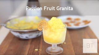 Passion Fruit Granita