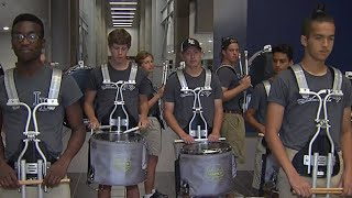 Little Elm High School Drum Line Pump Up The Crowd