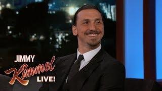 Zlatan gästade Jimmy Kimmel! (Full video intervju)