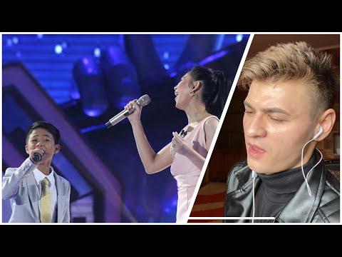 HONEST REACTION to Vanjoss Bayaban & Coach Sarah - Habang May Buhay   The Voice Kids