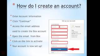 How to Set up and Use a Box account
