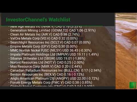 InvestorChannel's Palladium Watchlist Update for Monday, M ... Thumbnail