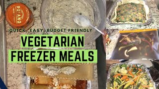 5 Easy BUDGET FRIENDLY Vegetarian Freezer Meals In Under 2 Hours!