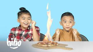 Kids Try Food on Fire | Kids Try | HiHo Kids