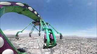 VR 360° Video | 4K! | Stratosphere Extreme Thrill rides!! Las Vegas, Nevada, USA