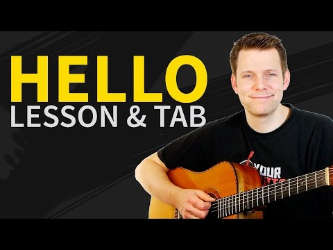 How To Play Hello On Guitar - Adele Guitar Lesson