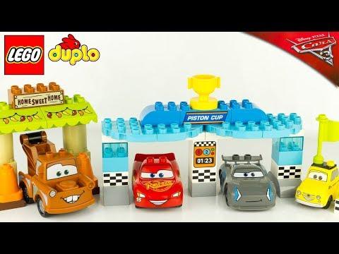 LEGO Duplo Cars 3 Cabane Martin Course Piston Cup Flash McQueen Jackson Storm Jouet Toy 10856 10857