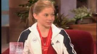 Shawn Johnson on Ellen, October '07