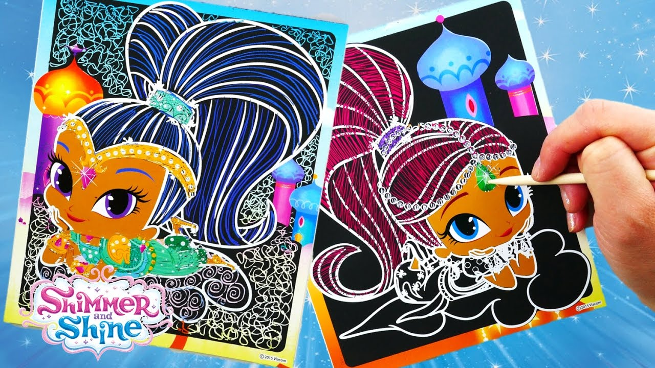 Shimmer and Shine Color Changing Scratch Art Scra-ffiti Coloring Book | Evies Toy House