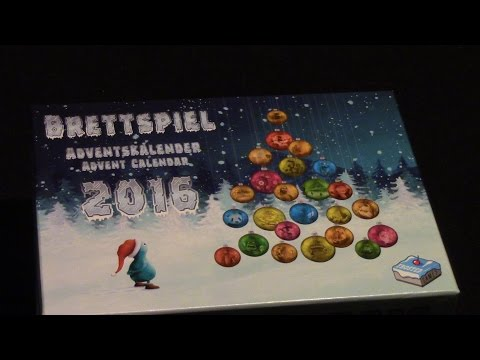 Brettspiel Advent Calendar (Adventskalender) 2016 - Part 1 of 4