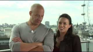 Форсаж (The Fast and the Furious), Fast & Furious 6 Interview Vin Diesel & Michelle Rodriguez
