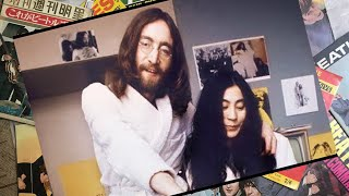 ♫ John Lennon and Yoko Ono in  Amsterdam Hotel where they spent the week of their honeymoon, 1969