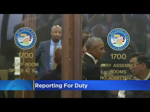 Former President Obama Reports For Jury Duty