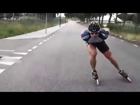 Técnica de patinaje( Doble empuje perfecto)