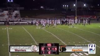 North Miami Varsity Football vs Wabash