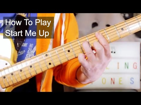 'Start Me Up' The Rolling Stones Guitar Lesson