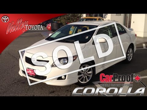 (SOLD) 2009 Toyota Corolla S Preview, At Valley Toyota Scion In Chilliwack, B.C. # 13774C