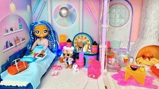 LOL STORY Episode 3   OMG Snowlicious Family Loue Le Chalet LOL Surprise Winter Disco Night Routine