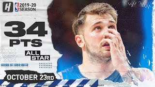 Luka Doncic Full Highlights vs Washington Wizards (2019.10.23) - 34 Pts, 9 Reb , 3 Ast!