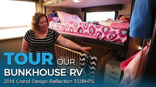 Tour Our Bunkhouse RV! 👀 Grand Design 312BHTS   RV Family of Five