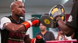 FLOYD MAYWEATHER; COMPLETE MITT WORKOUT vs Marcos Maidana) BEST VIDEO