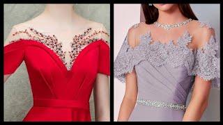 Designer Latest & Elegant 2020 Formal Evening Wear Gown Beaded Lace Neck Designs