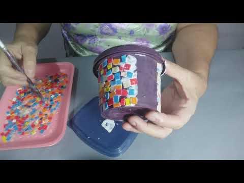 Mosaico em vasos