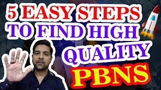 5 EASY STEPS TO FIND HIGH QUALITY PBNS (Private Blog Network) - 2018