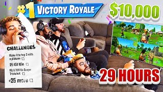 First To Finish These 25 IMPOSSIBLE Fortnite Challenges Wins $10,000  -  (Last to Stop Part 2)