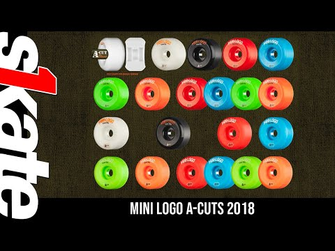 Mini Logo Skateboard Wheels A-cut 52mm 101A Assorted 4pk